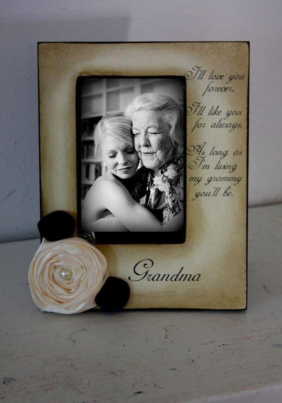 Grandma Gift Wedding Frame Bride Keepsake Personalize Picture Frame