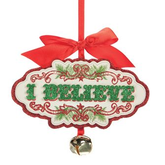 Country Marketplace - I Believe Jingle Bell Ornament, $14.99 (http://www.countrymarketplaces.com ...