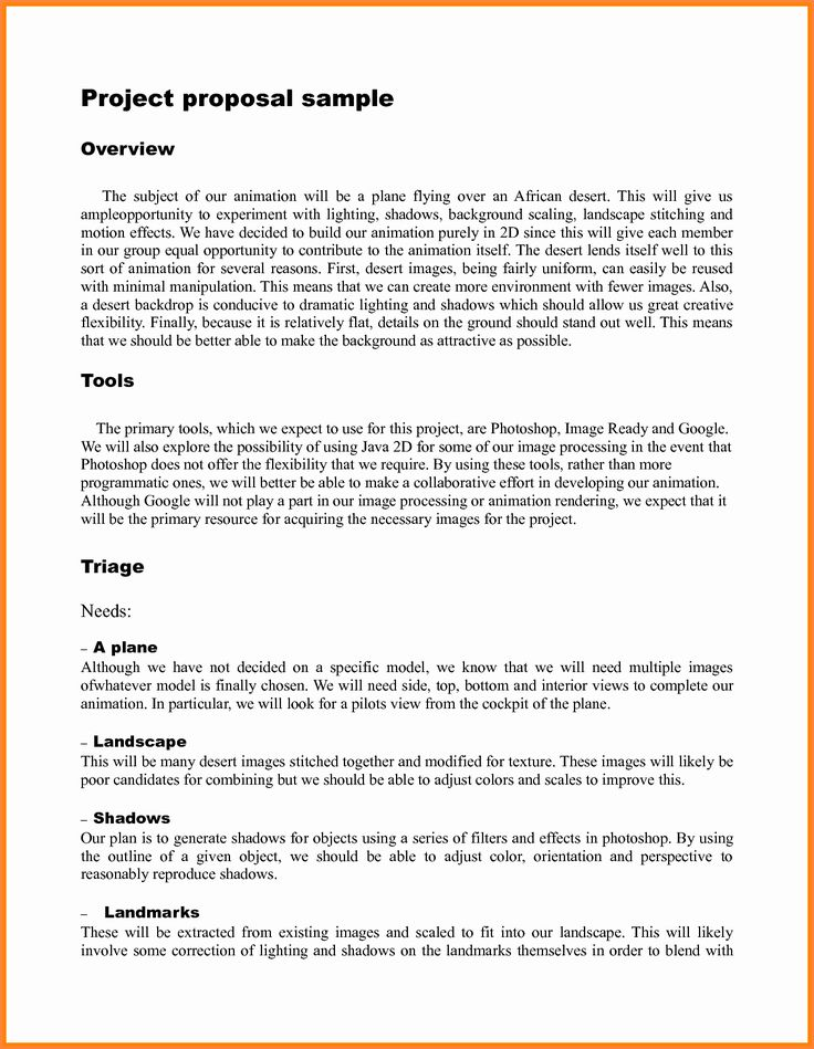 Student Project Proposal Example Lovely 9 Student Project