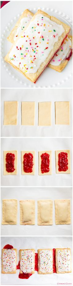 Homemade Pop Tarts - seriously once you try these you'll never looked at the boxed kind the same again. Melt in your mouth delicious!! .