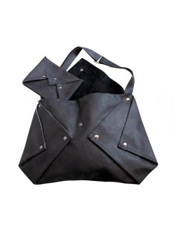 This bag appears to have been folded into a bag and fastened with snap fastenings.