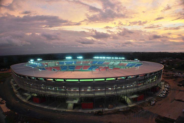 Estadio de fútbol de Bata, Guinea Ecuatorial.