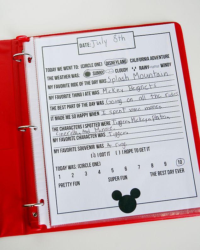 Free Printable Disney Journal