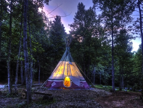 Zipline during the day, sleep in a teepee at night. North Georgia Canopy Tours