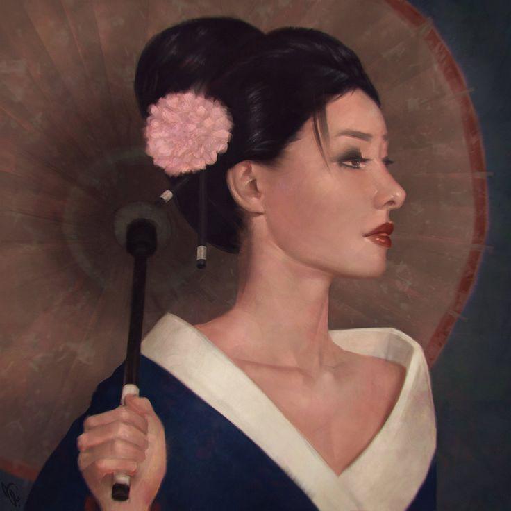 Geisha Painting 6 Day #258 by AngelGanev.deviantart.com on @DeviantArt