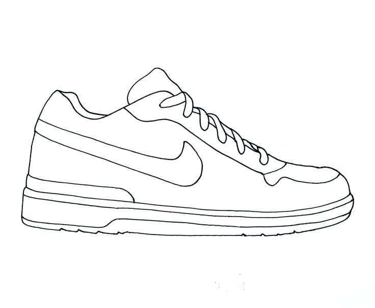 Line Drawing Shoes : Nike air jordan clipart brands pinterest