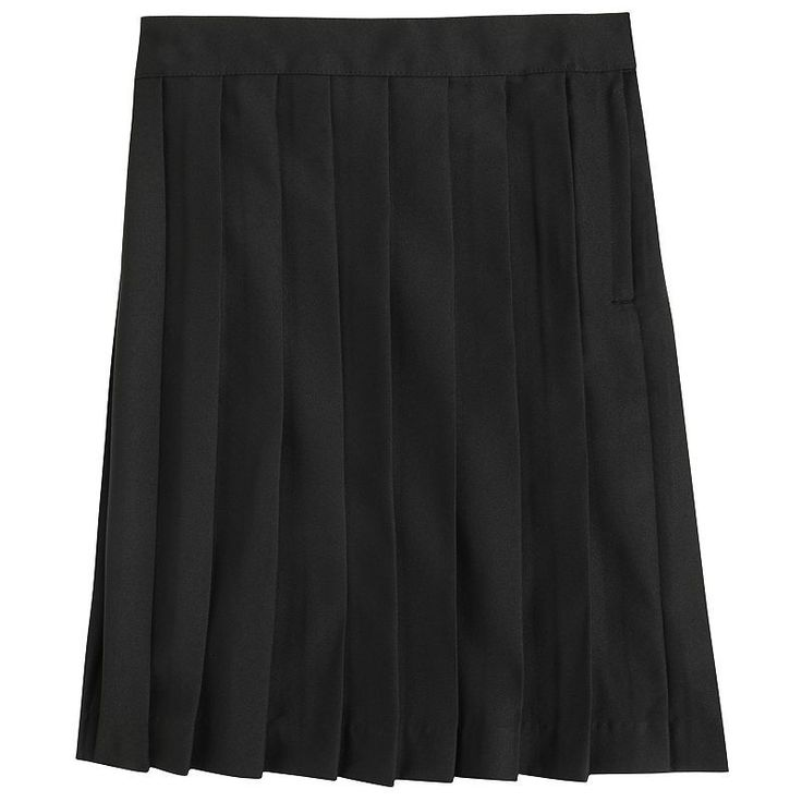 Girls 4-20 & Plus Size French Toast School Uniform Pleated Skirt, Girl's, Size: 20 Plus, Black