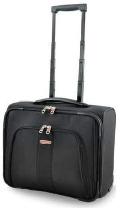 Bag with wheels, ergonomic handle and housing laptop, ideal for business travels.