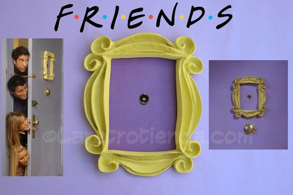 VRIENDEN frame kijkgat vrienden frame reeks tv door LaRetrotienda