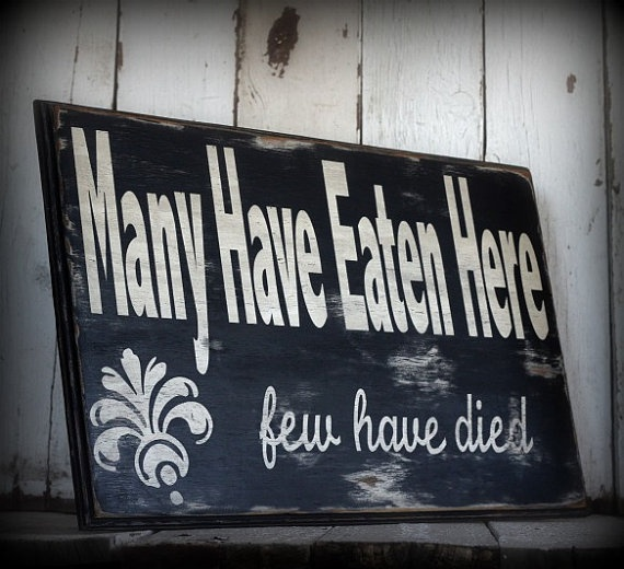 Kitchen Signs For Sale: Funny Painted And Distressed Sign By MannMadeDesigns4