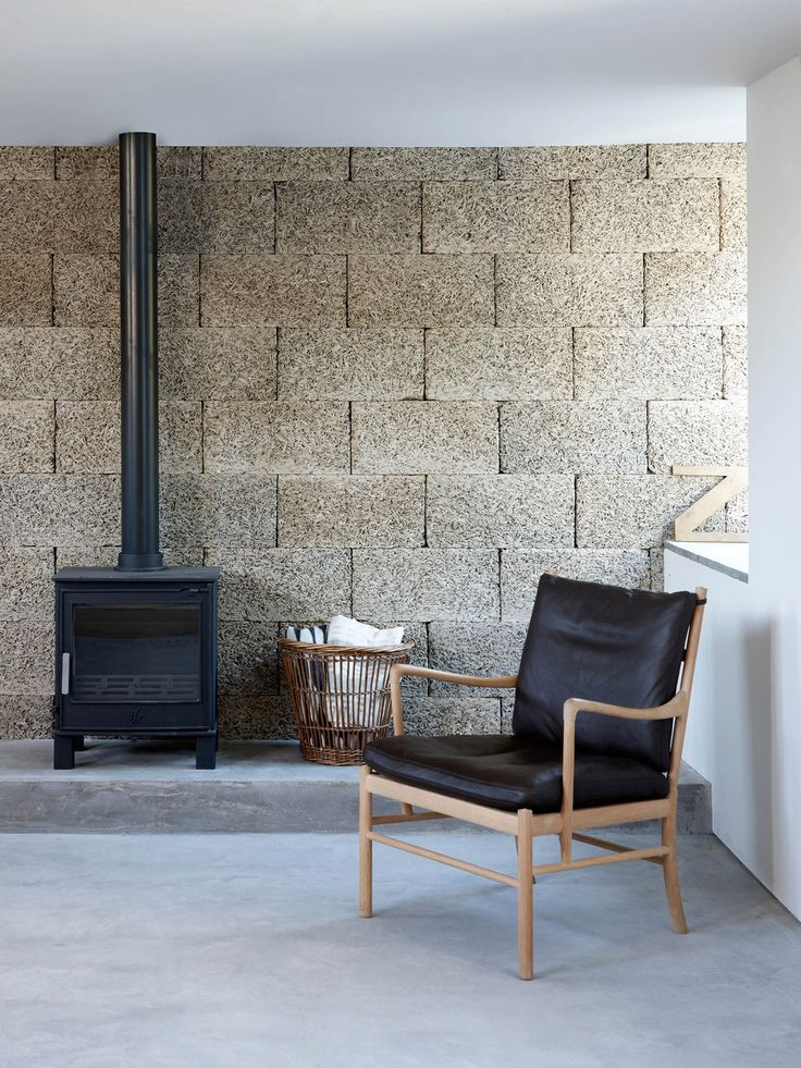 A Wall Of Durisolcement Type Cement Bonded Wood Fibre Provides Textural Backdrop