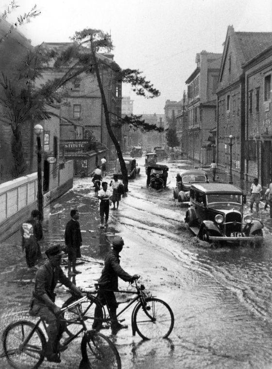 Flooded Kobe, Japan 1938 阪神大水害