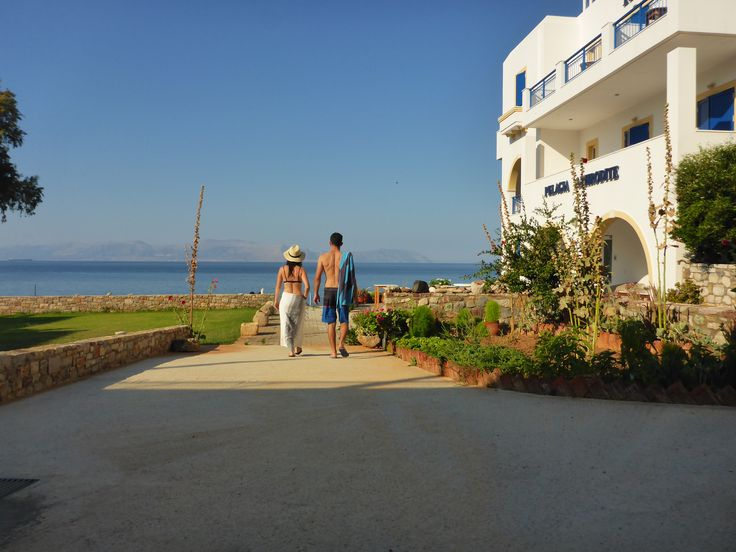 The beauty of a private beach! Just grab your towel from The Gift Shop and you are at the beach! #pelagiaaphroditehotel