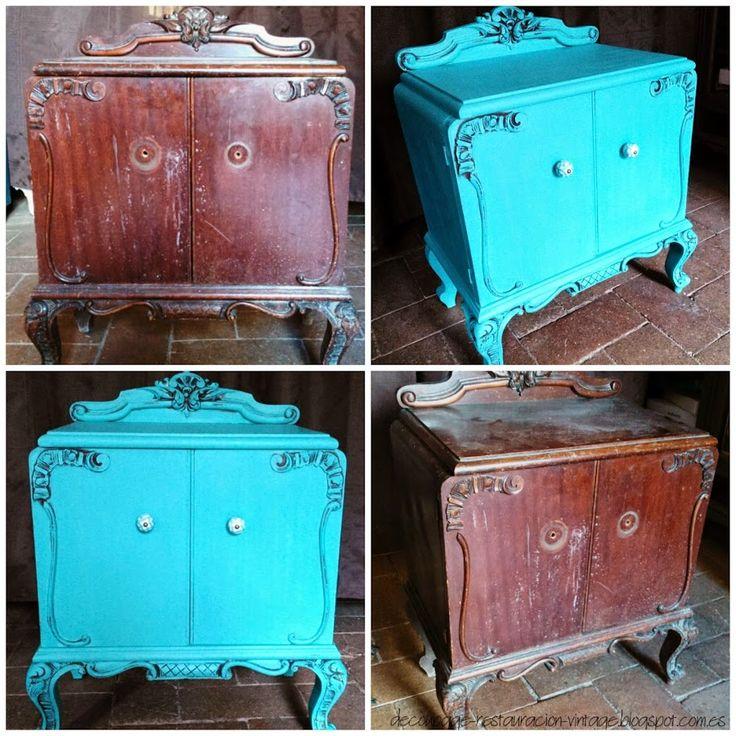 Recuperación de muebles: mesita antes y después | Bricolaje                                                                                                                                                                                 Más