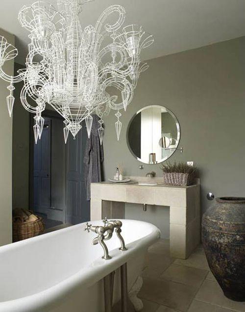 All ready for a bath!!  @Hansgrohe USA  #bathroomdreamsLights Fixtures, Trav'Lin Lights, Interiors, Clawfoot Tubs, Glamorous Bathroom, Dreams Bathroom, Design, Bath Time, Abigail Ahern