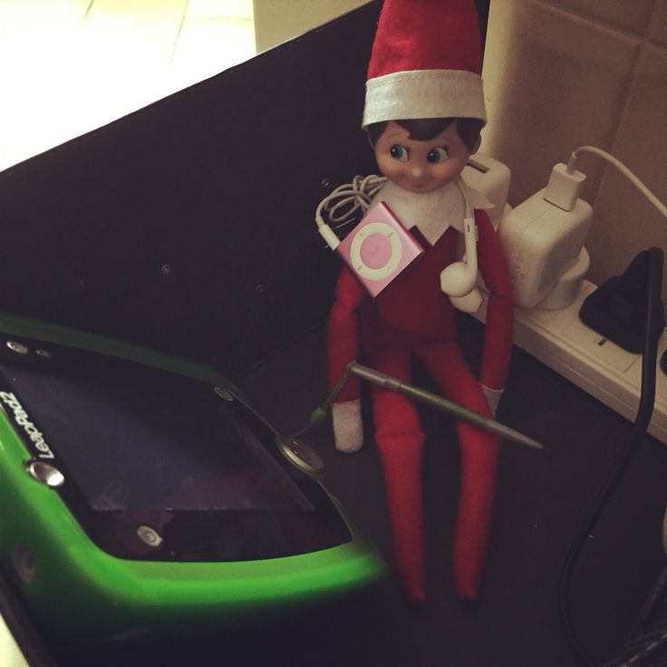 4th night: in the charging station #elfontheshelf