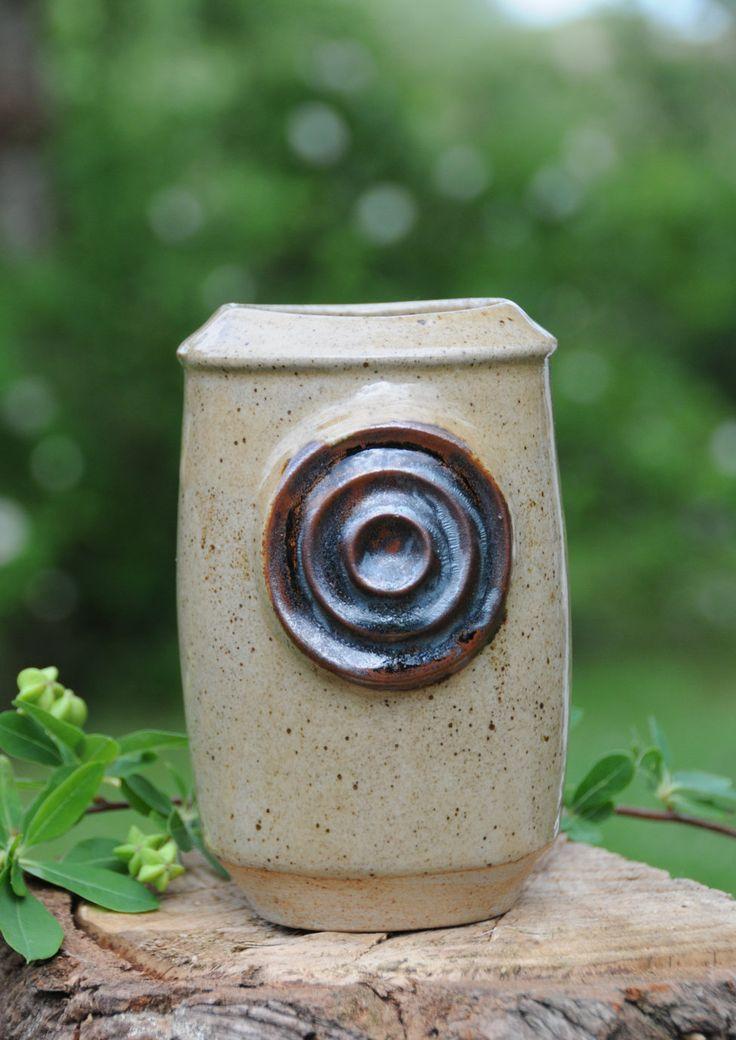 Knabstrup by Günther Praschak, Stoneware vase Danish design. Mid century modern by FridasVintage on Etsy