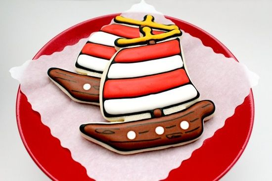 Galleta barco pirata