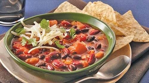 Slow-Cooker Three-Bean Chili recipe from Betty Crocker