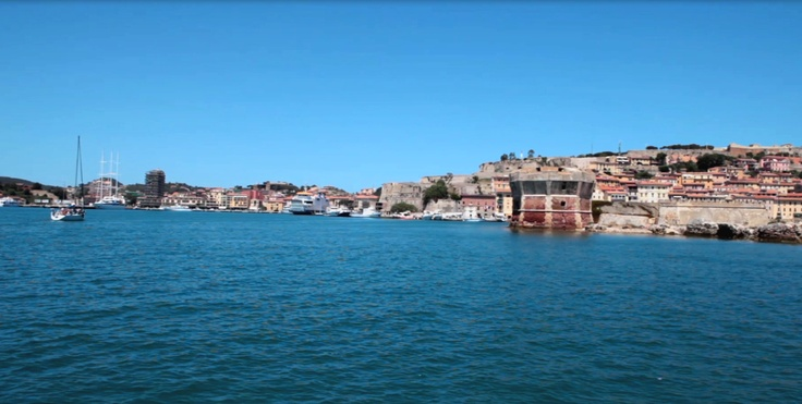 Stock video available for sale at Fotolia: Video of boat sailing to Portoferraio Marina, Elba Island, Italy.