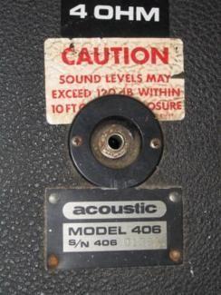 Acoustic Model 406 Bassbox Bass Cabinet 2x15