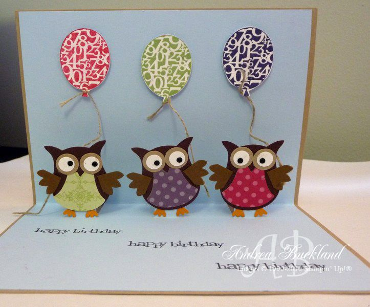 handmade card templates | Creating Cards with Andrea: Pop Up Owls
