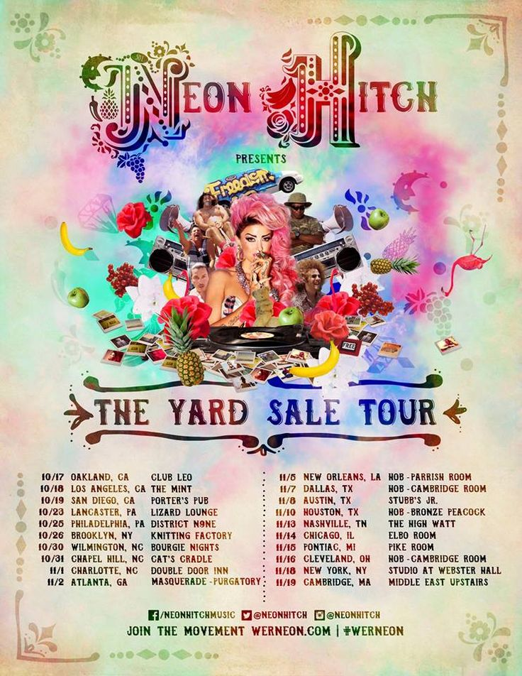 The circus is coming to town! The #YardSaleTour kicks off October 17th - tickets go on sale FRIDAY! Hello, let's go! #WeRNeon