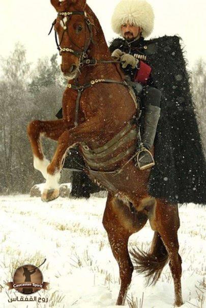 Adiga warrior on horseback