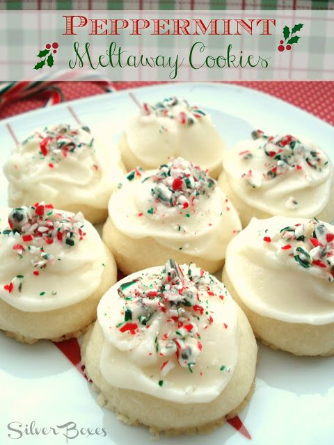 Silver Boxes: Peppermint Meltaway Cookies