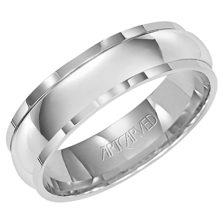 Cheap Mens White Gold Wedding Bands