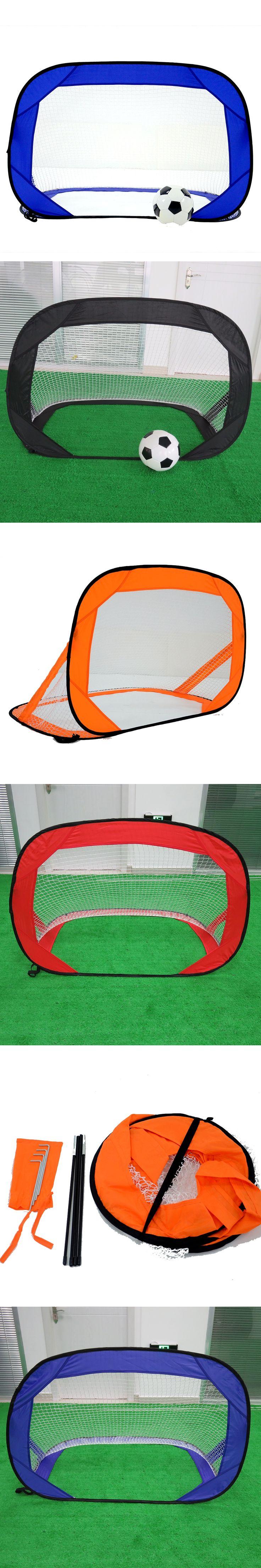 Kids Foldable Football Training Target Net Children Portable Soccer Goal Net Door Gate For Park Beach