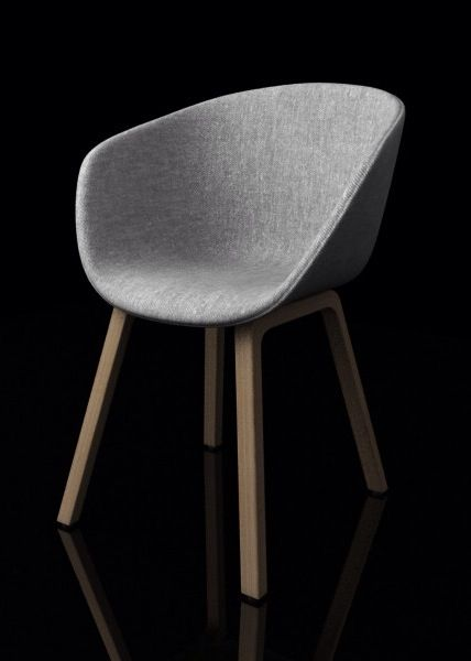 Chairs for reception area: Hay Chair AAC23 REMIX 133 by 3dlibrary  Custommade Noisemanaged Interior   www.bedreakustik.dk jp@bedreakustik.dk