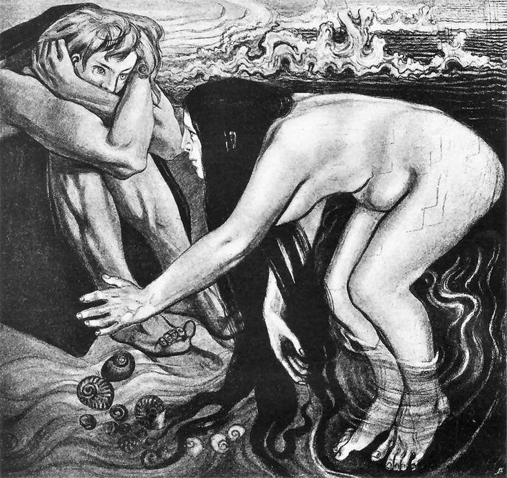 Stanisław Wyspiański, Iliad (Homer) - Emerging Thetis, 1897