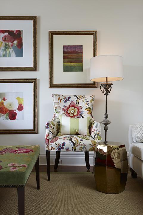 Sarah Richardson Sarah 101 Vibrant Living Room Floral Chair Part 98