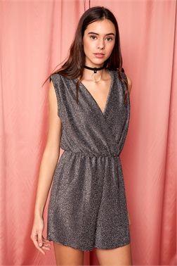 Wrap Metallic Playsuit - ΡΟΥΧΑ -> Φορέματα & Φόρμες | Made of Grace