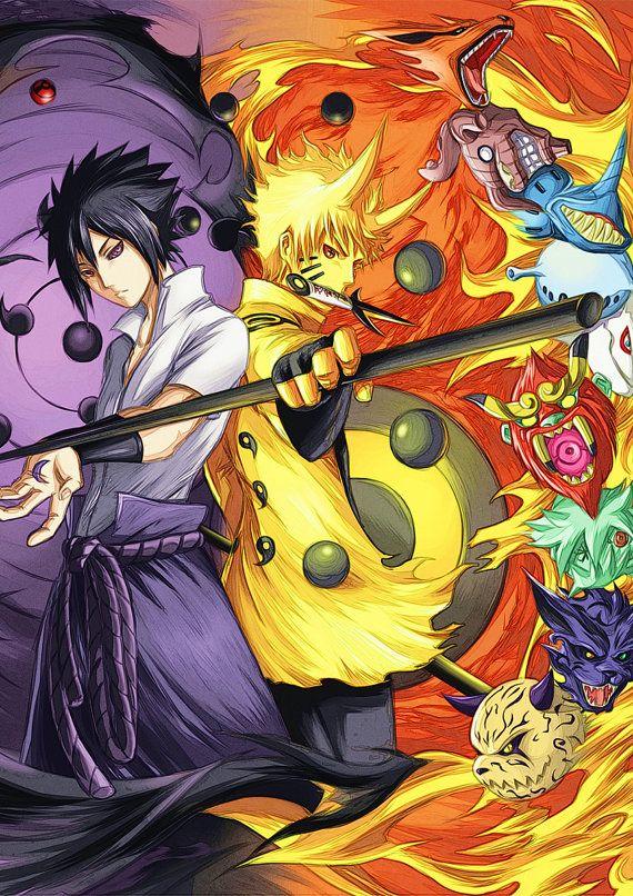 Naruto GIANT Anime Manga HQ Tiled Print Poster, Various