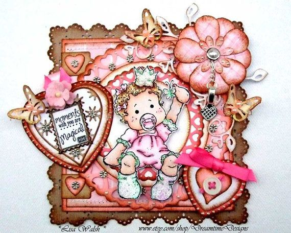 Magnolia Tilda - Baby Girl - Premade Scrapbooking Title Topper by DreamtimeDesigns
