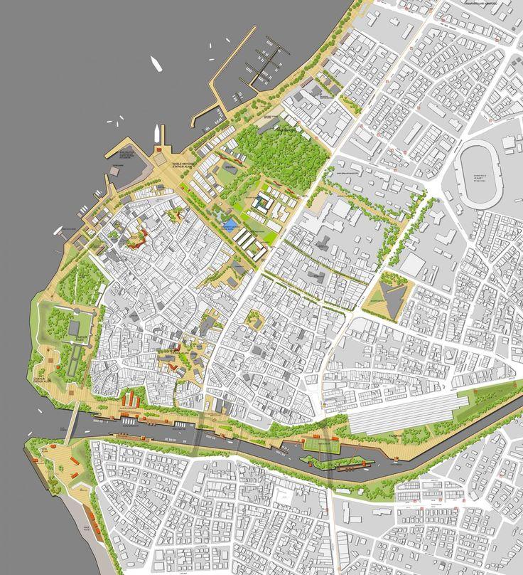 """1. Ödül - Çanakkale Belediyesi Kent Meydanı ve Çevresi Düzenlenmesi """"Yeşil"""" Kentsel Tasarım Proje Yarışması"""