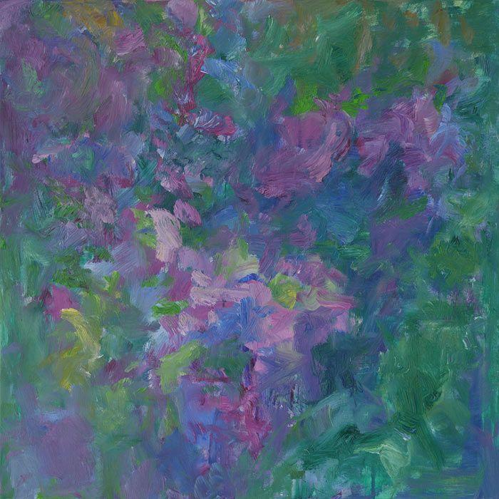 Rautio: Syreenit kukkii - Lilacs, 80x80 cm, 2016
