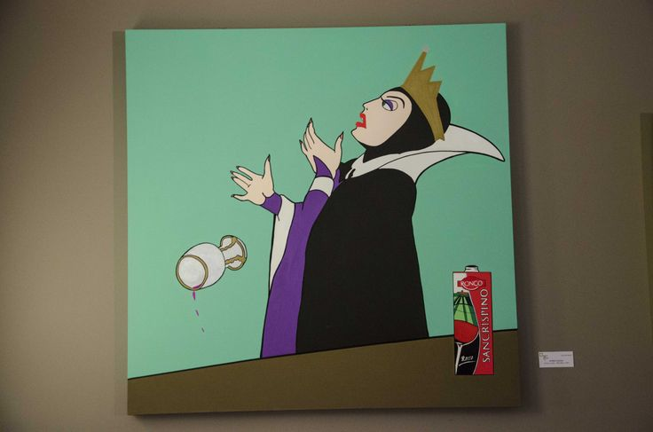 """In vino colicas""_Luca De March _Bad Novels #LucaDeMarch #Art #BadNovels #Disney #Biancaneve #Strega #Bologna #TakeyourSpace #SanCrispino #Wine #Grape #Evil #Poison #PopArt"
