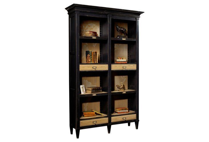 Parc Open Bookcase, Black/Driftwood