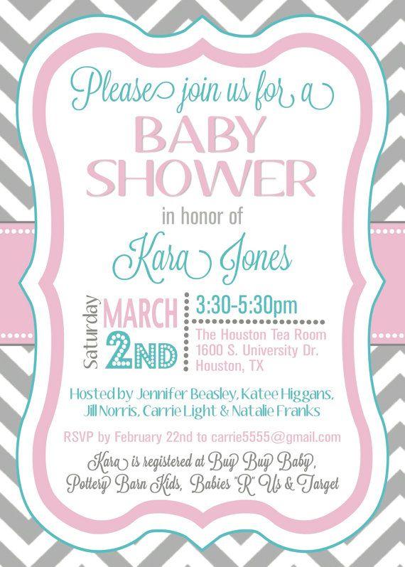 custom chevron baby shower invitation digital by splendidandspark 12