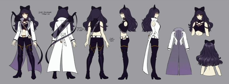 RWBY Volume 4 Redesigns | Blake Belladonna  I like this one, actually. It reflects her stealthier side, but it would be terrible for real camouflage.