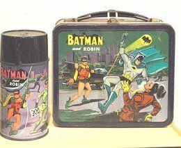 ALADDIN 'BATMAN & ROBIN' LUNCH BOX W/ THERMOS, 1966. #Batman #vintage #lunchbox