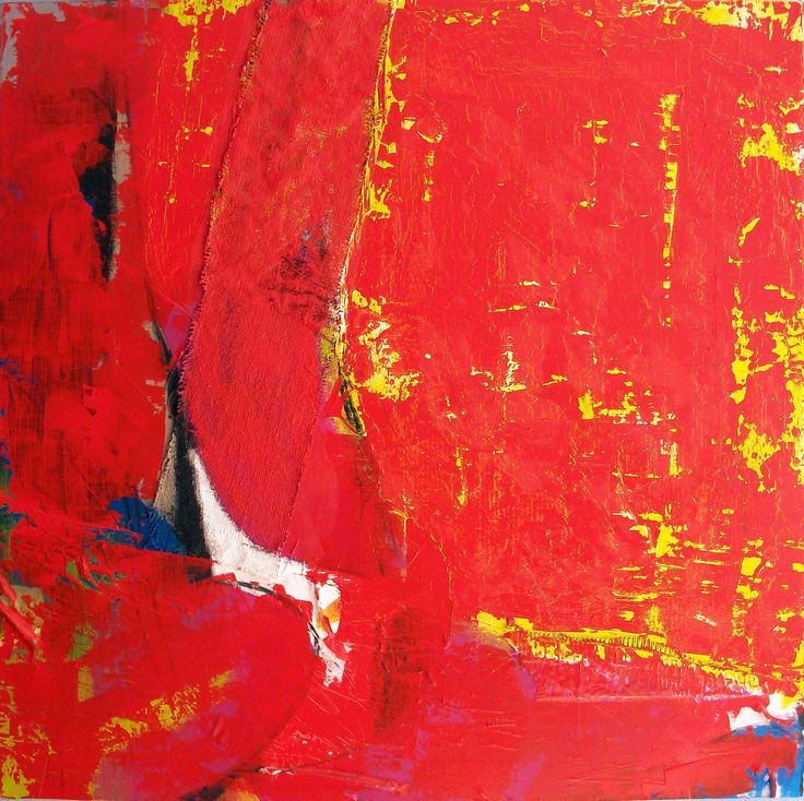 Contemporart Art ■ Paintings - Tres by Chema Senra www.chemasenra.com #art #paintings #contemporary #red