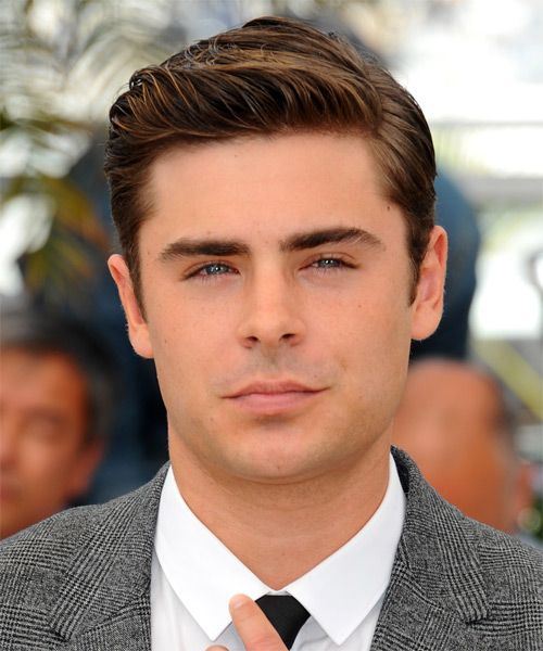 Zac Efron Short Straight Formal Hairstyle Brunette Hair Color