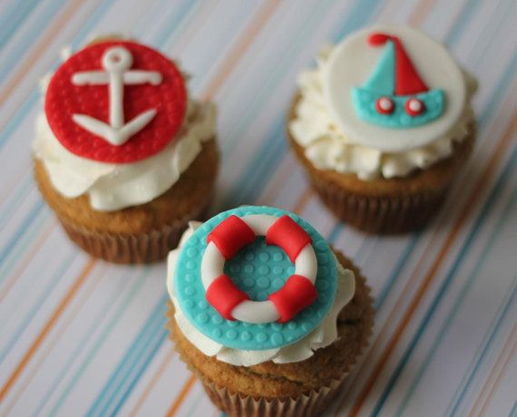 Fondant Toppers Nautical Theme  Perfect for by LesPopSweets, $18.99