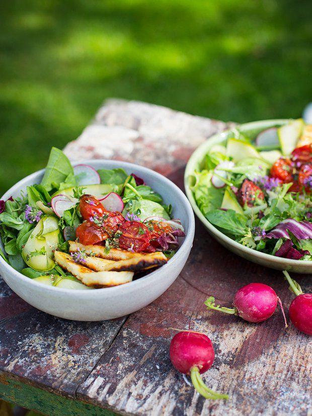 Salát s halloumi a pečenými rajčaty 3, Foto: All