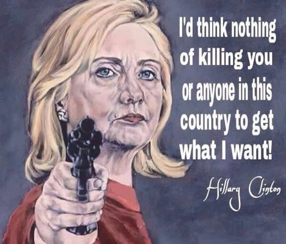 """TOO MANY connected to the Clintons have """"mysteriously died"""" I PUT NOTHING PAST THIS EVIL WOMAN"""
