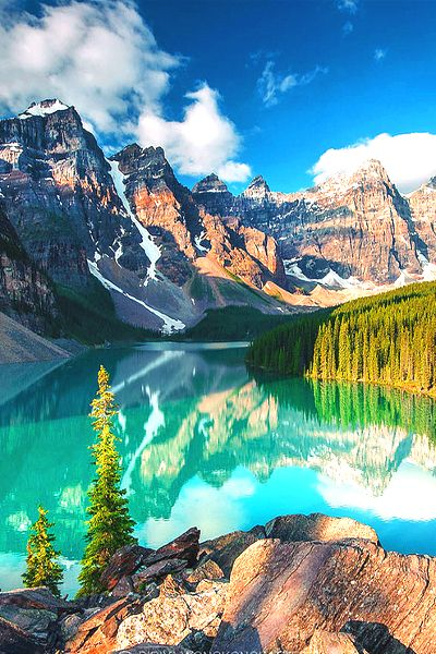 Turquoise, Moraine Lake, Canada..... Anyone wanna go to Canada like right now??